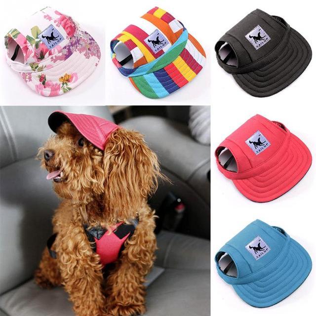 0737335c 2018 Fashion Original Dog Baseball Cap Summer Canvas Puppy Small Pet Dog Cat  Visor Hat Outdoor Sunbonnet 11 Patterns for Choice