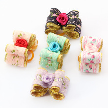 Armi store Handmade Accessories Pet Roses Ribbon Dog Bow 6023007 Dogs Grooming Bows Beauty Jewelry