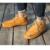 Homens sapatos de inverno austrália lã de ovelha genuína ankle boots de couro camelo cinza plana sapatos de barco homem botas de neve quente SFWN UG004