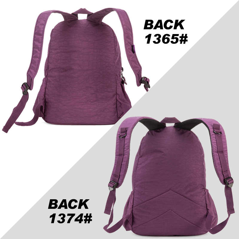 Tegaote Wanita Ransel Sekolah untuk Remaja Gadis Kapasitas Besar Back Pack untuk Wanita Bahan Nilon Perjalanan Laptop Bagpack Dompet