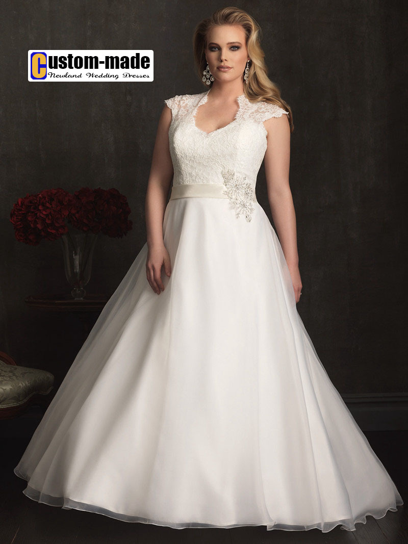 2015 NEW Custom made Big Girl Wedding Dress Floor Length ...