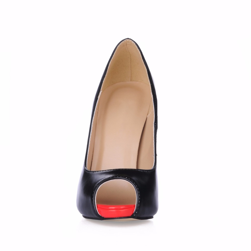 Fashion New women mujer peep toe platform dress office prom work super heels high heel shoes for women ladies pumps 2665 g in Women 39 s Pumps from Shoes