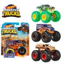 1: 64 Hot Wheels Monster Trucks Металлический Игрушечный Автомобиль Hotwheels гигантские колеса большая коллекция ног Wild Collision Car Toys FYJ44