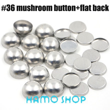 50 Sets/lot #36 Flat Back 2.15cm/21.5mm  Aluminum Round Fabric Covered Cloth Button Cover Metal Free Shipping