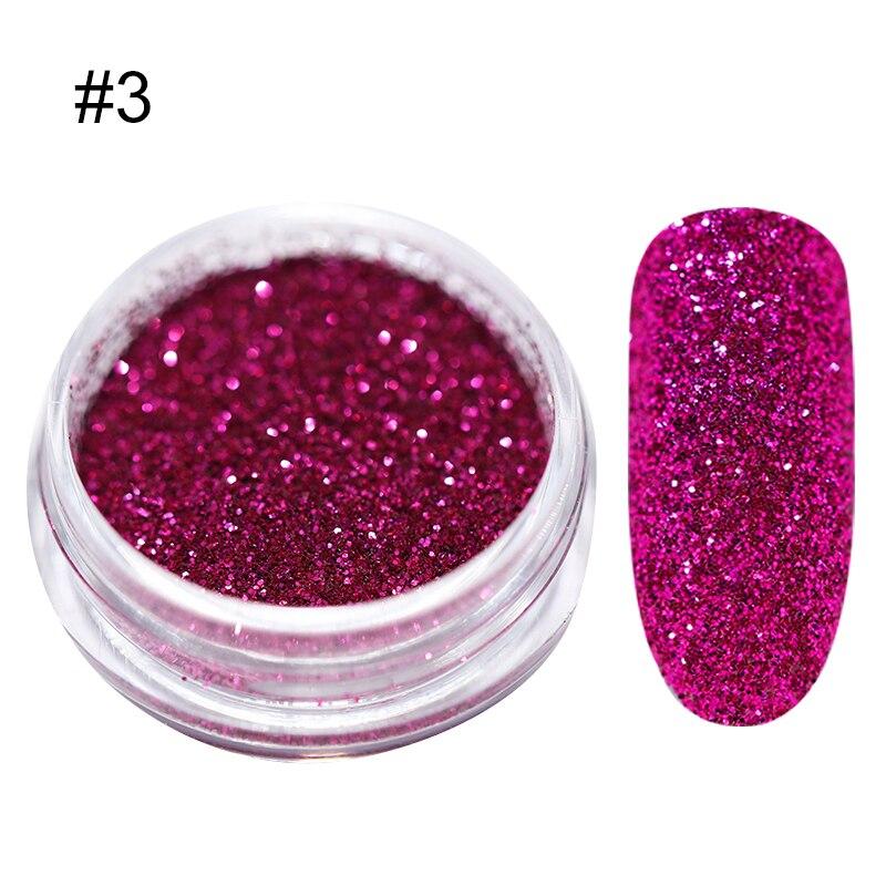 1 г/кор. голографические блёстки для ногтей порошок градиент для УФ гель-лака ногтей украшения сахарный блеск окунание маникюр Дизайн ногтей - Цвет: 3