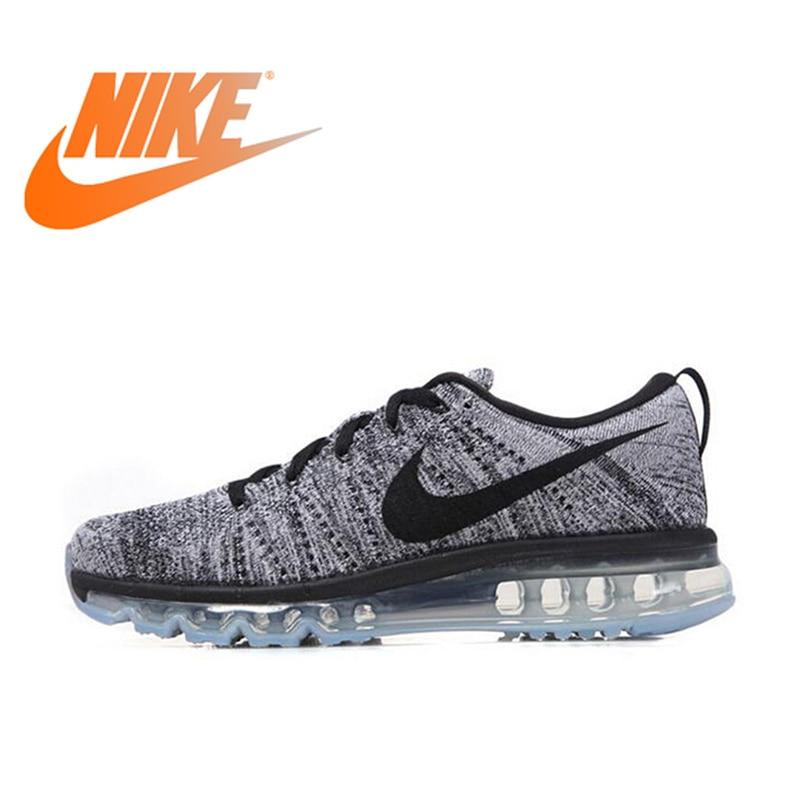 Original officiel authentique NIKE Flyknit hommes respirant chaussures de course sport baskets de plein air confortable Jogging 620469