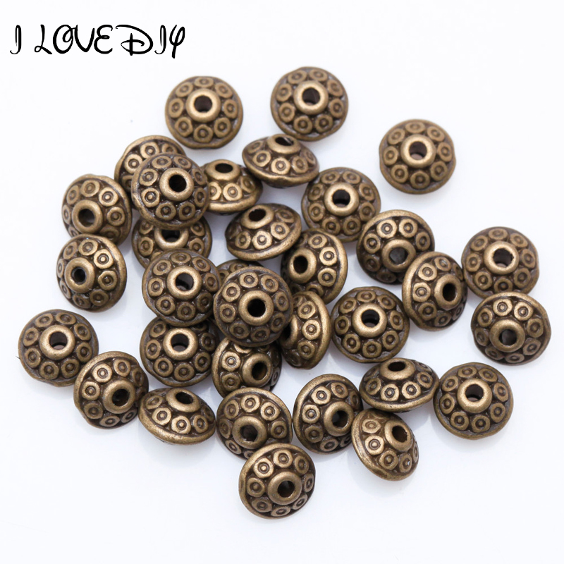 Reasonable Wholesale 100pcs Spacer Charms Tibetan Silver Bronze Metal Spacer Beads 6mm For Jewelry Making Fast Shipping To Reduce Body Weight And Prolong Life Jewelry & Accessories