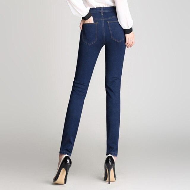 e51c70a1018 Boyfriend Jeans de Marca Pantalones Vaqueros de Talle Alto Delgado Skinny Jeans  Para Mujer Plus Size