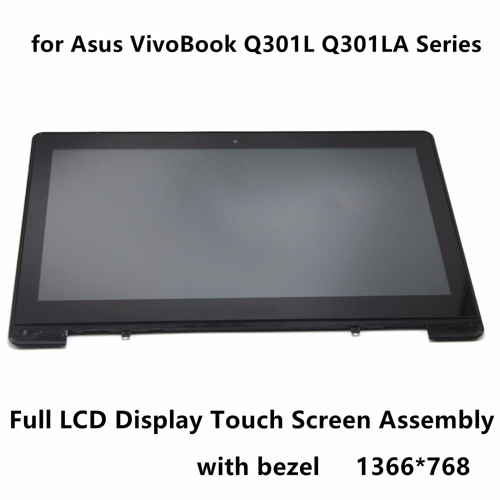 New 13.3 Touch Panel Glass Digitizer + LCD Screen Display Assembly with Bezel N133BGE L41 for Asus VivoBook Q301L Q301LA Series