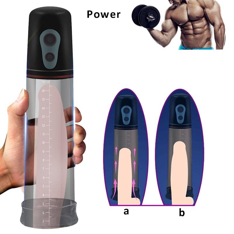 Automatic Penis Enlargement Vibrator for Men Electric Penis Pump Male Masturbator Penile Erection Training Penis Extend for Man