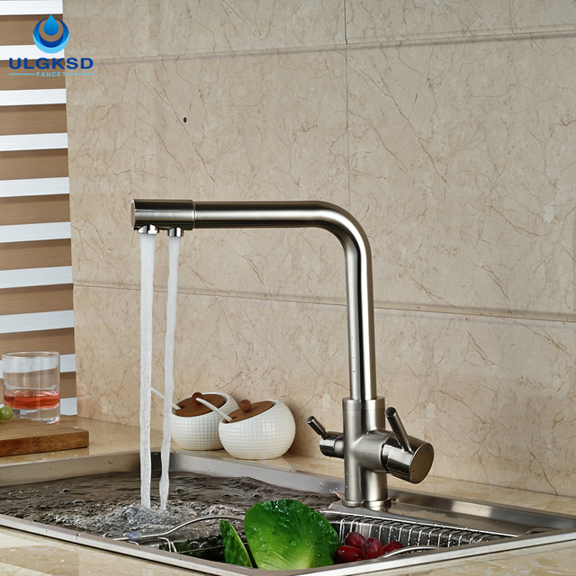 water filter for pull down faucet. ULGKSD New Design Kitchen Faucet Purification Water Filter Tap Pull  Down Two Spout Hot