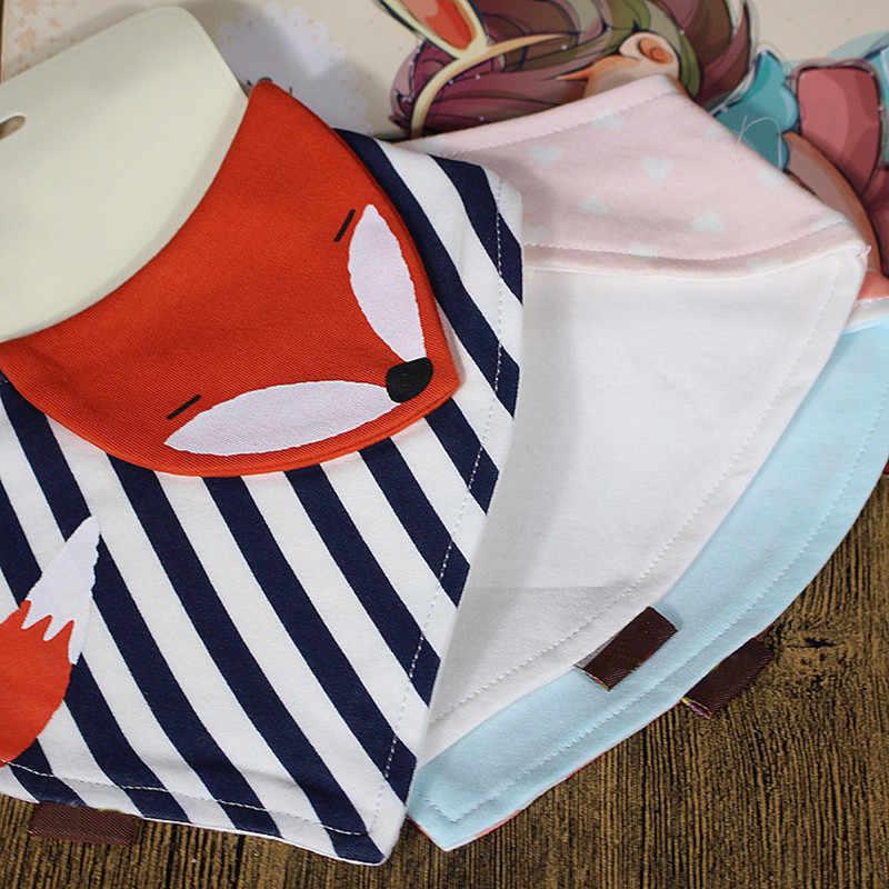 חדש קיץ חייב קריקטורה ילדי משולש צעיף כותנה רוק מגבת לתינוקות זיעה מגבת נפרדת חמוד מטפחת תינוק ליקוק