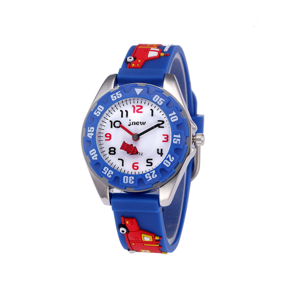 Kids Watches 3D Cartoon Fire Truck Waterproof Sport Silicone Children Wrist Watches Gift For Boys Girls Children's Jewelery