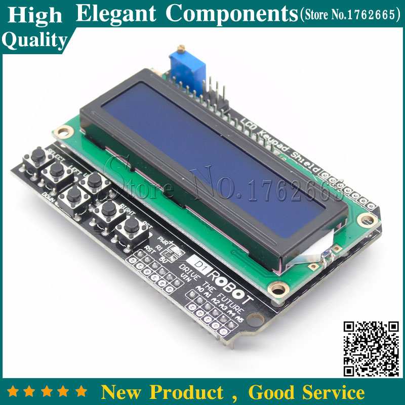 US $2 39 |HOT! LCD Keypad Shield of the LCD1602 character LCD input and  output expansion board For ARDUINO-in Replacement Parts & Accessories from