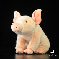 artificial animal pig plush toy 30cm Superior quality Pink super adorable pig Cute little pig doll Simulated pig Simulated gift