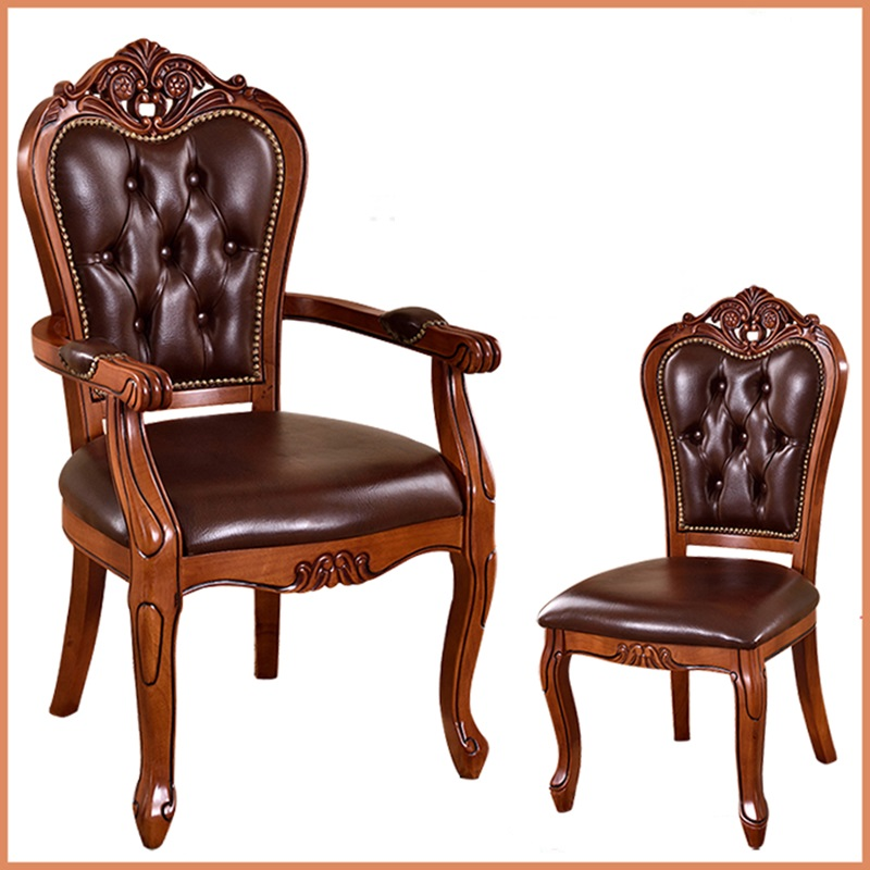 European solid wood dining chair hotel coffee chairs study armchairs  classic desk chairs - Special Shipping Chair Lazy Fashion Leisure Fabric Armchair