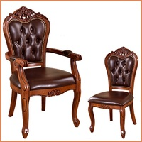 European Solid Wood Dining Chair Hotel Coffee Chairs Study Armchairs Classic Desk Chairs