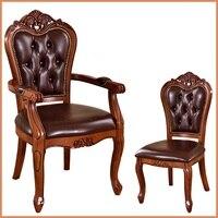 Европейский твердой древесины обеденный стул Отель кофе стулья исследование кресла классический стол, стулья