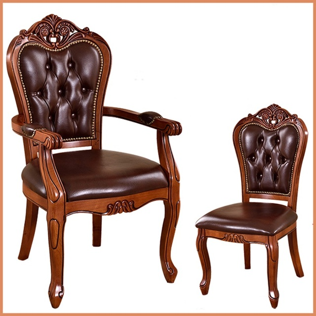 Silla de comedor de madera maciza Europea sillas de café para hotel ...