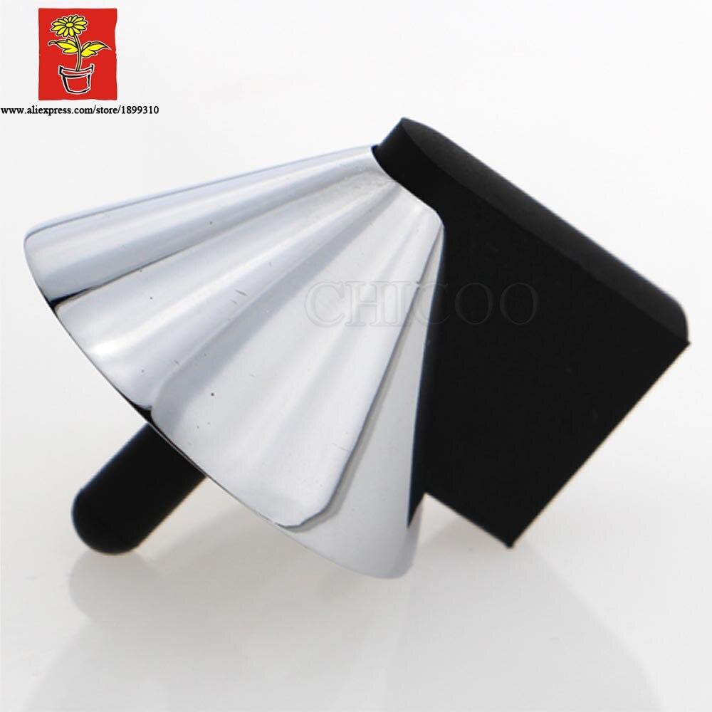 ᗑChicoo decoración del hogar blanco cromo caucho Topes aleación ...