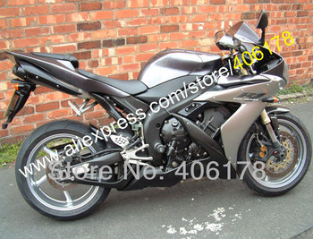 Gray Black Fairings for YZF R1 04-06 YZFR1 YZF R1 YZF R1 2004 2005 2006 ABS body kit (Injection molding)