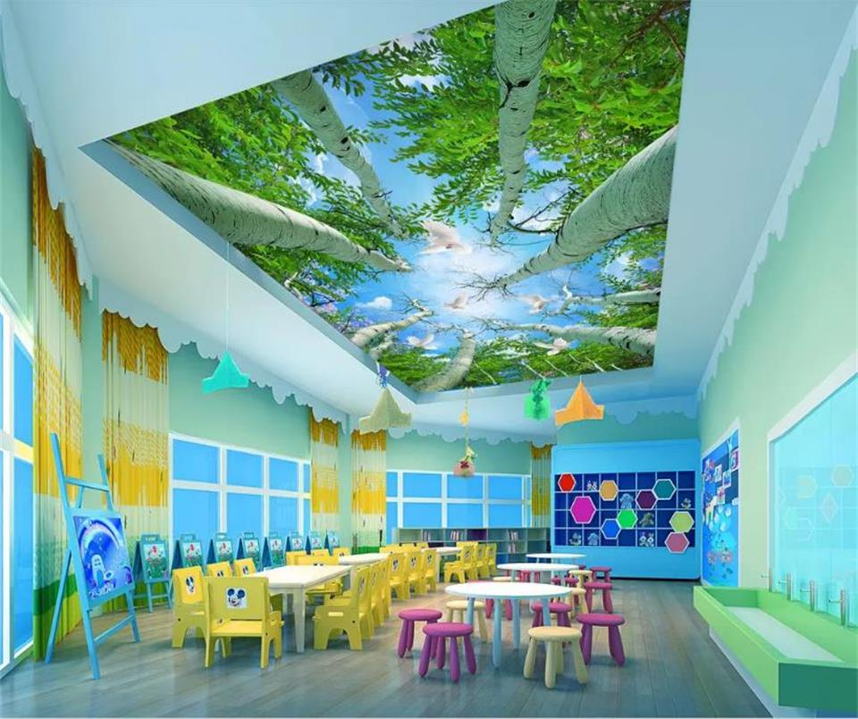 custom size 3d photo wallpaper mural room ceiling mural forest sky white pigeon 3d picture non-woven muarl wallpaper for wall 3d custom photo 3d room wallpaper mural natural forest scenery painting picture 3d wall murals wallpaper for living room walls 3 d