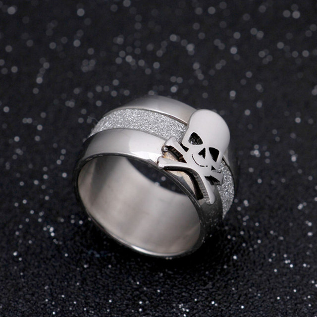 STAINLESS STEEL PIRATE SKULL RINGS