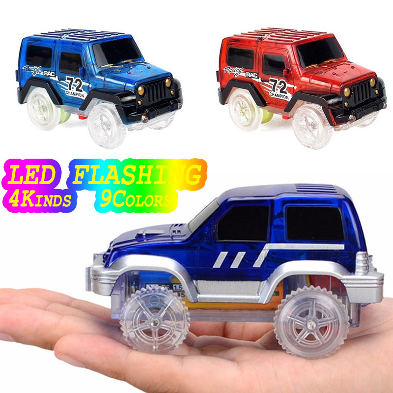 Electronics Tracks Magic Cars Toy Led Flashing Play on Flashing LED Fancy Flexible Track Car Toys for Children Gift