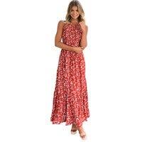 2017 Hot Sale Bohemian Beach Maxi Dress Women Vestidos Sexy O Neck Party Dresses Charming Vestido