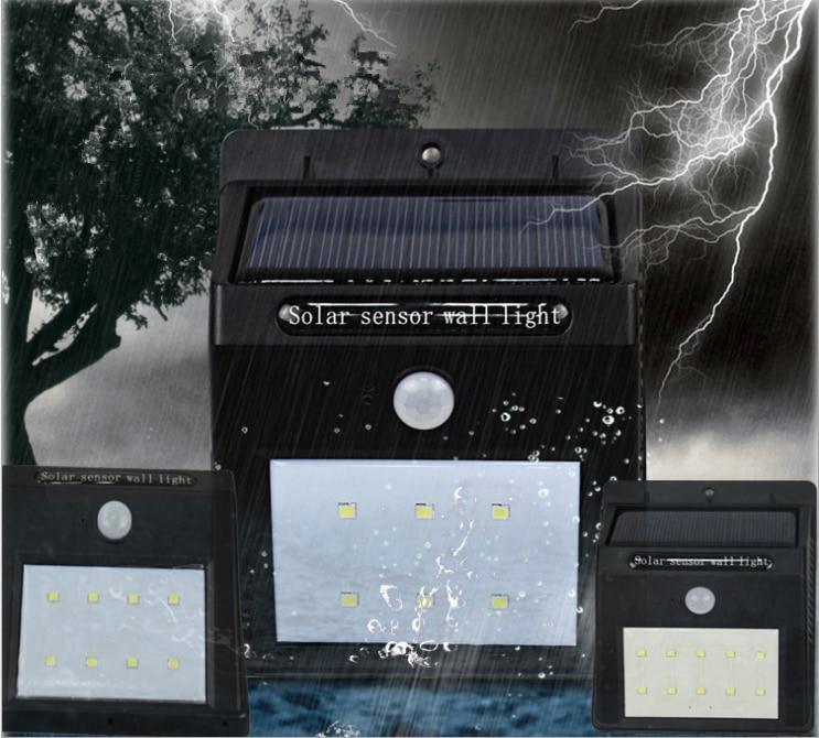 10LED solar motion sensor light wall lamp outdoor garden waterproof solar power security lights sensing lamps street