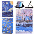 for iPad Air 2 smart case Fashion Woman Girl Case Clear Soft Silicone Secret Garden Cover for iPad Air2 / for iPad 6 PU Leather