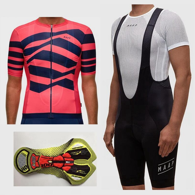 Ropa Bicicleta de carretera 2018 Team cycling clothing Summer short sleeve cycling suit Men's top and bottom bib shorts kit live team cycling jerseys suit a001