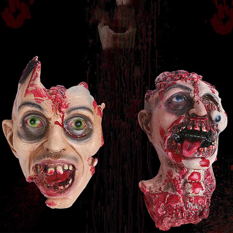 Креативная Горячая продажа Хэллоуин пугающая Маска Голова человека Хэллоуин, привидения дом тухих зомби аккуратные реквизит декорация дом с привидениями