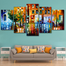 Living Room HD Printed Modern Decoration Posters Frame Painting 5 Panel Urban Landscape Modular Picture Wall Art Home On Canvas