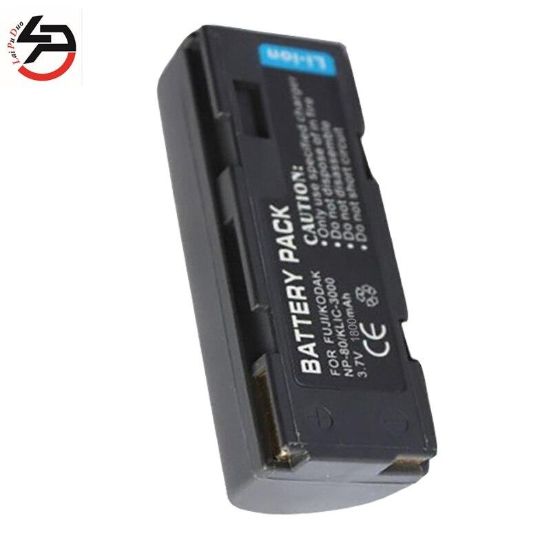 LPD 1800 мАч 100% новая сменная батарея для камеры Kodak NP-80 NP80 NP 80 KLIC-3000 BP-1100R 2900z 4900 4800