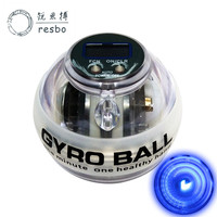 RESBO LED Power Wrist Ball Auto Gyroscope Auto start Forearm Hand Arm Spinner Gyro Ball Force Ball for Muscle Relax Beginner Q
