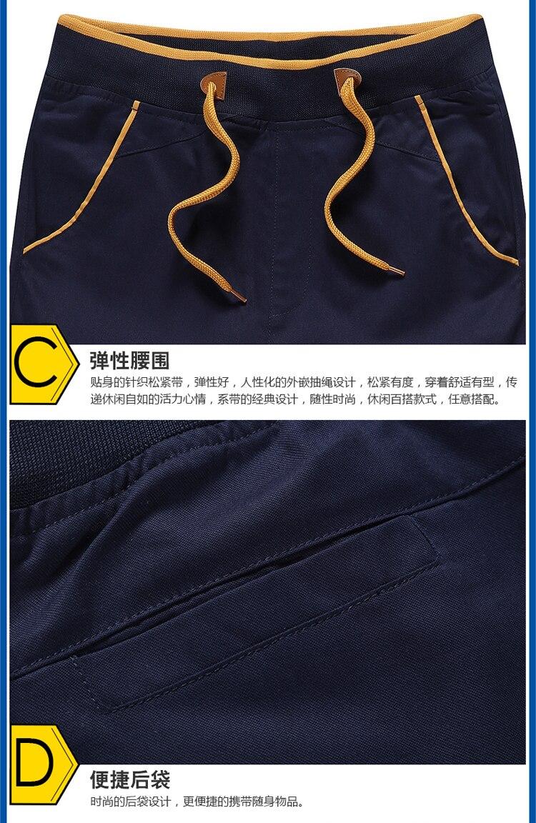 Treino de algodão shorts masculinos verão calções