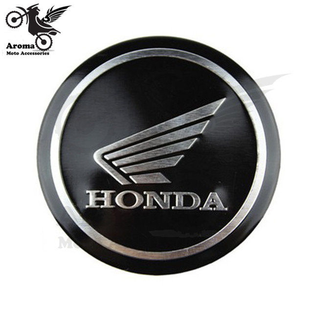 1 PCS Motorbike Sticker For Honda Logo Wind Emblem Badge Motorcycle Decals Metal Car Styling 3D