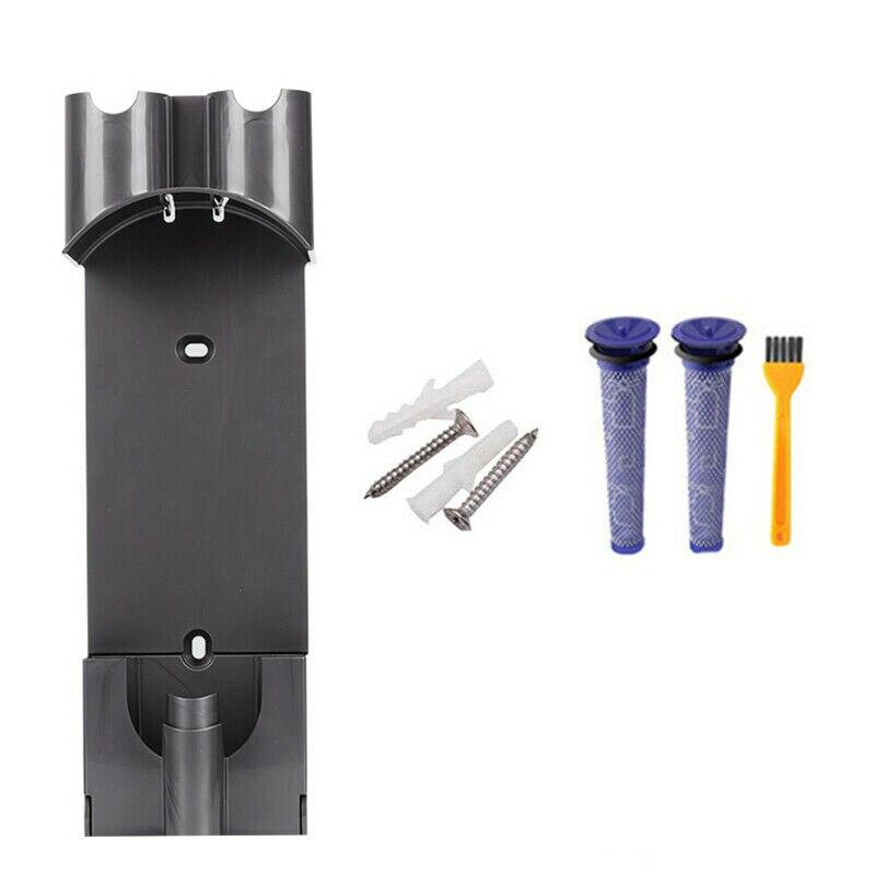 4 pçs de carregamento suporte filtros escova para dyson v7 v8 aspirador peças acessórios