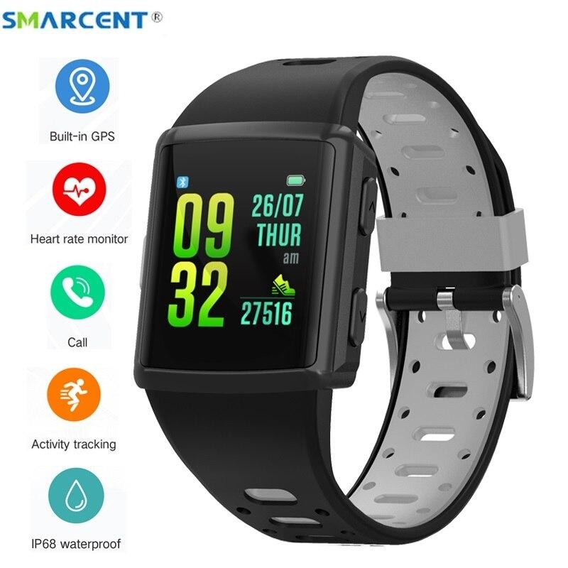 Smarcent M3 GPS montre intelligente bracelet de sport IP68 étanche Bracelet de suivi d'activité de fréquence cardiaque multi-langue Photo smartwatch