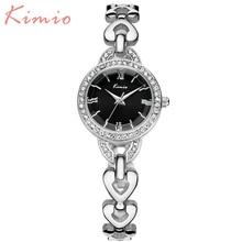 KIMIO 2016 Classic Bracelet Rhinestone Quartz Watch Elegant Excessive High quality Girls Girls Watches Waterproof Montre Femme 6039