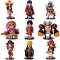 Anime One Piece Tony Chopper Figuras de Ação Luffy Nami Usopp Bonecas brinquedos Modelo Coleção Brinquedos 9 Peças/set PVC 67 # EB