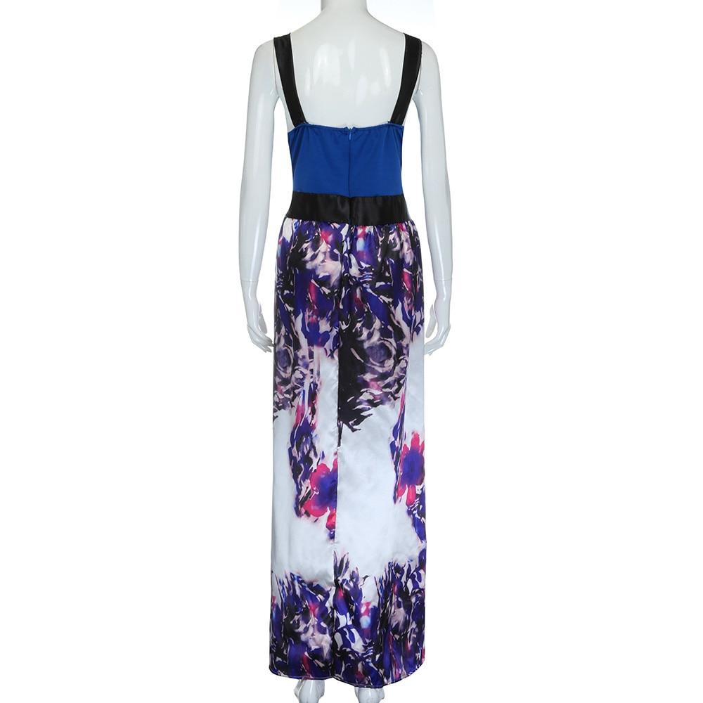Plus Größe Frauen Floral Bedruckte Langen Abend Party Prom Kleid ...
