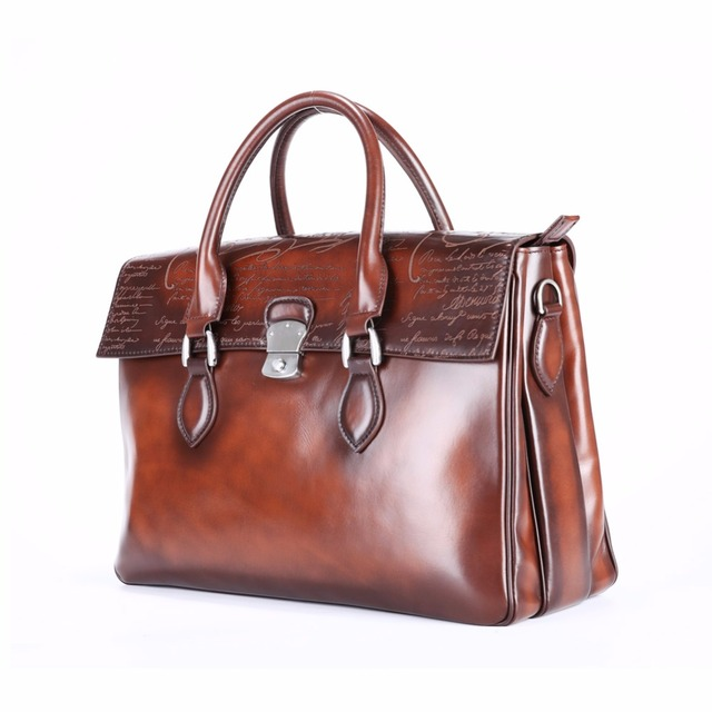 98938b76f6dfb TERSE_Tobacco color handmade leather tote bag mens handbag Italian calfskin genuine  leather bag luxury brand business