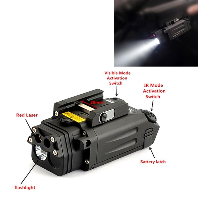 FIRECLUB DBAL PL Tactical IR Laser Light Combo Strobe Weapon Light LED Gun Tac Flashlight With