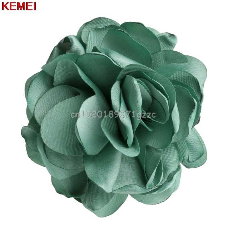 ผู้หญิงเชือกผมสีเขียว Rose ดอกไม้หางม้า Scrunchie อุปกรณ์เสริม # H027 #