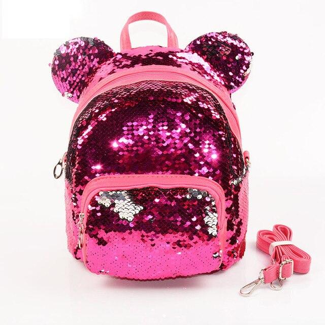 bfeb1cab86d2 Блестящий женский рюкзак с пайетками для девочек-подростков путешествия  большой емкости Рюкзаки сумки Bling рюкзак