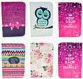 Fashion Rose Owl Pattern Wallet Flip PU Leather For Samsung Galaxy Note 8.0 N5100 N5110 GT-N5100 Tablet Shell Protector Funda