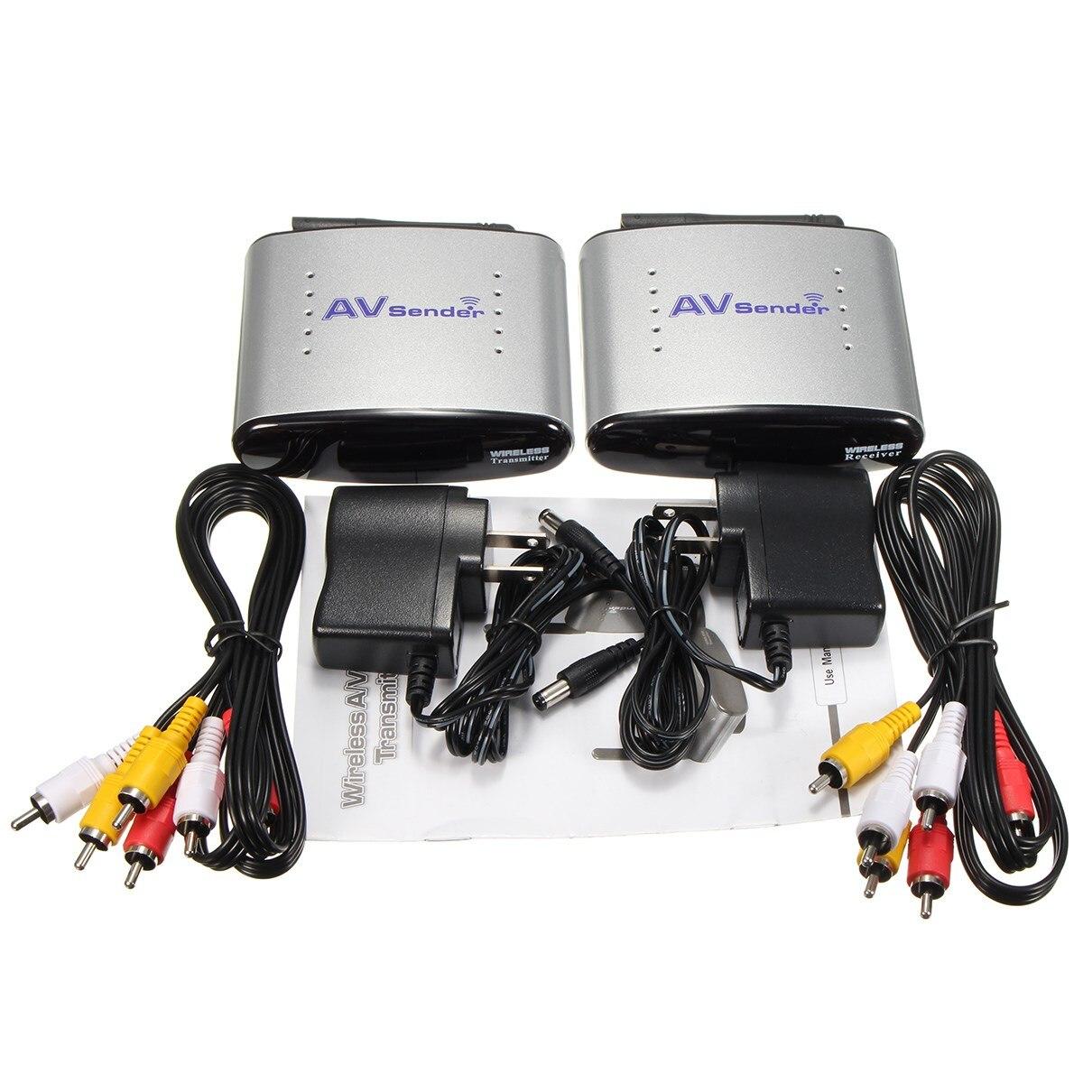 Excellent Quality 2.4GHz Wireless AV Sender TV Audio Video Transmitter Receiver New 800mw video transmitter av audio