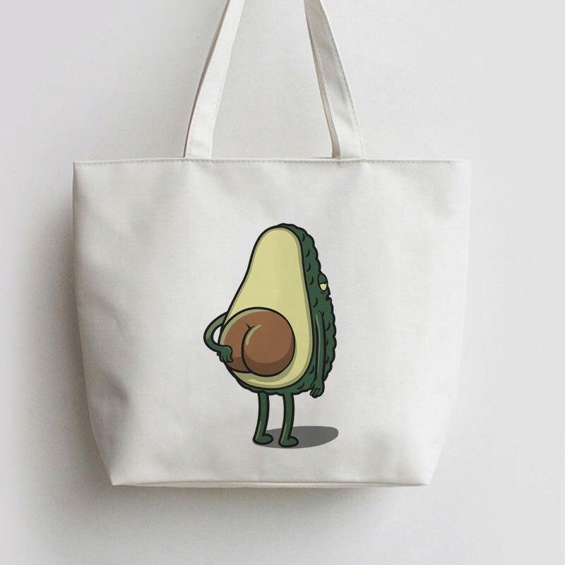 Avocado BUTT BONE Japanese Anime Canvas Tote bags Cartoon Shopping Bag GA968 tote bag